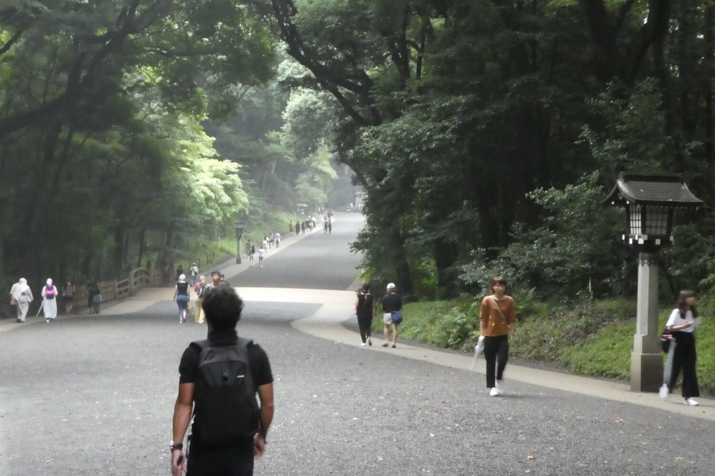 De toegangsweg naar het heiligdom, Tokio