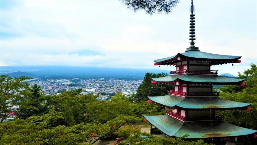 Chureito pagode bi de Arakura Sengen Shrine in Japan