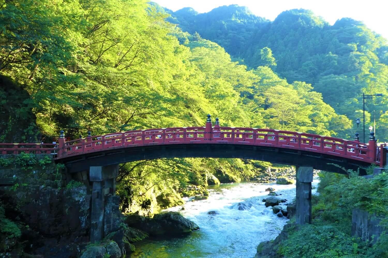 Shinkyo brug in Nikko National Park
