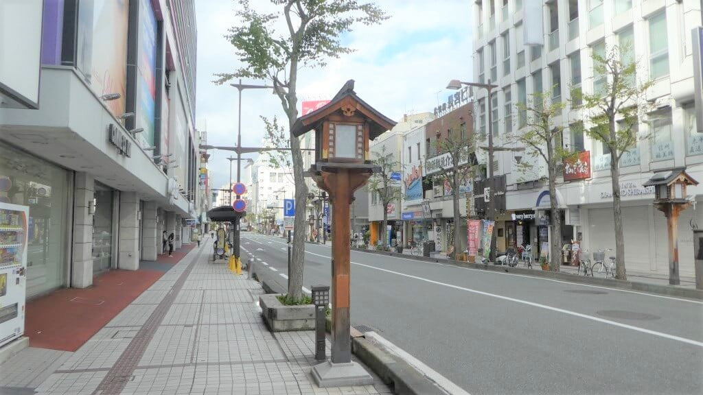 Een straat in Nagano
