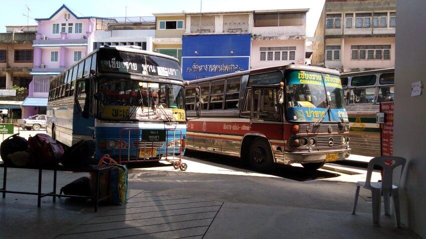 Busstation van Chiang Rai, Thailand