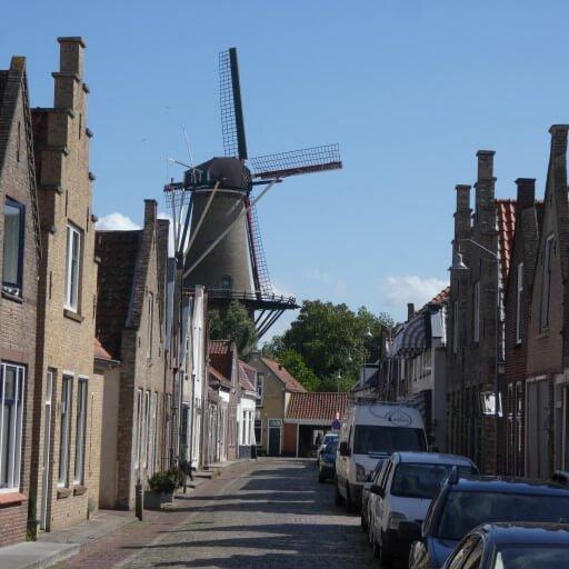 Oude molen in de Binnenstad van Zierikzee