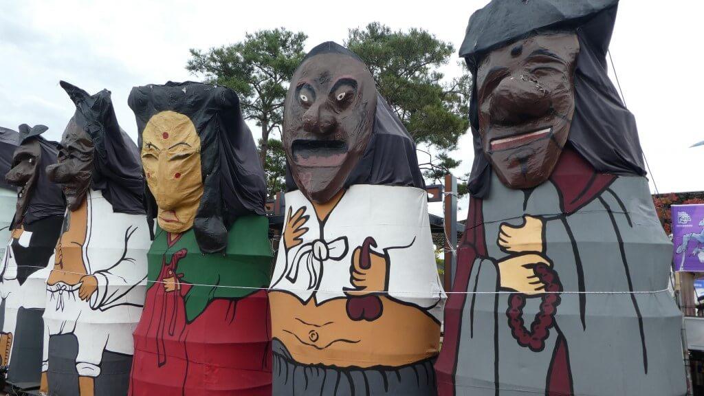 Koreaanse maskers in Andong