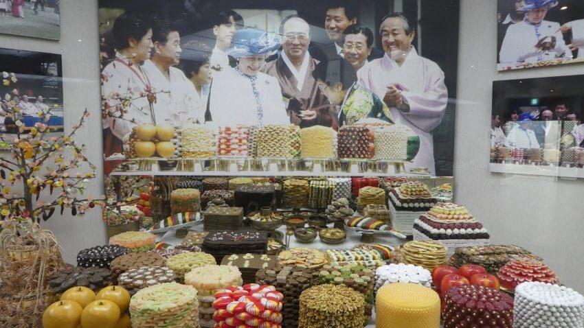 Koningin Elizabeth in Andong, Zuid-Korea