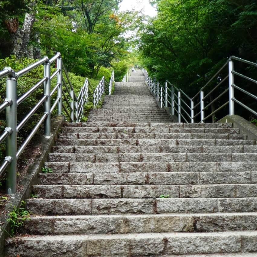 De 400 treden naar de Chureito pagode, Japan