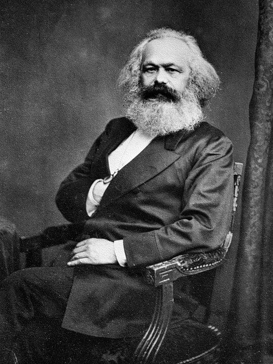 Portret van de filosoof Karl Marx uit 1875