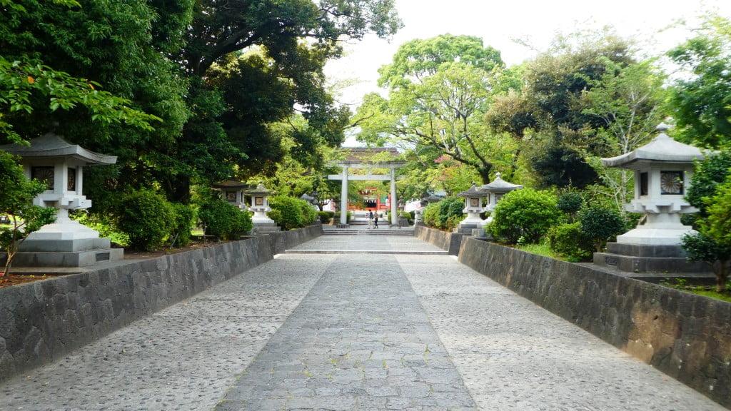 De ingang van de Fujisan Sengen Shrine in Fujinomiya