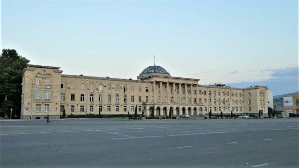 Het gemeentehuis van Gori, Georgië
