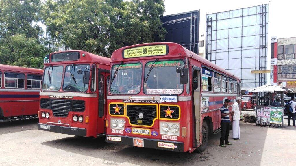Het busstation van Jaffna, Sri Lanka