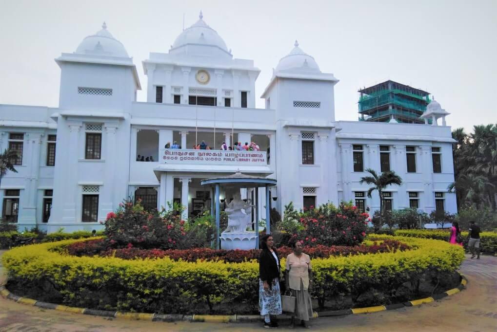 De openbare bibliotheek van Jaffna, Sri Lanka