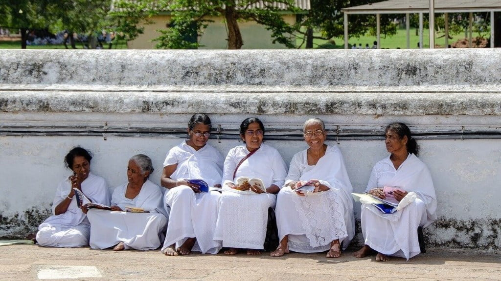 Boeddhisten in Sri Lanka