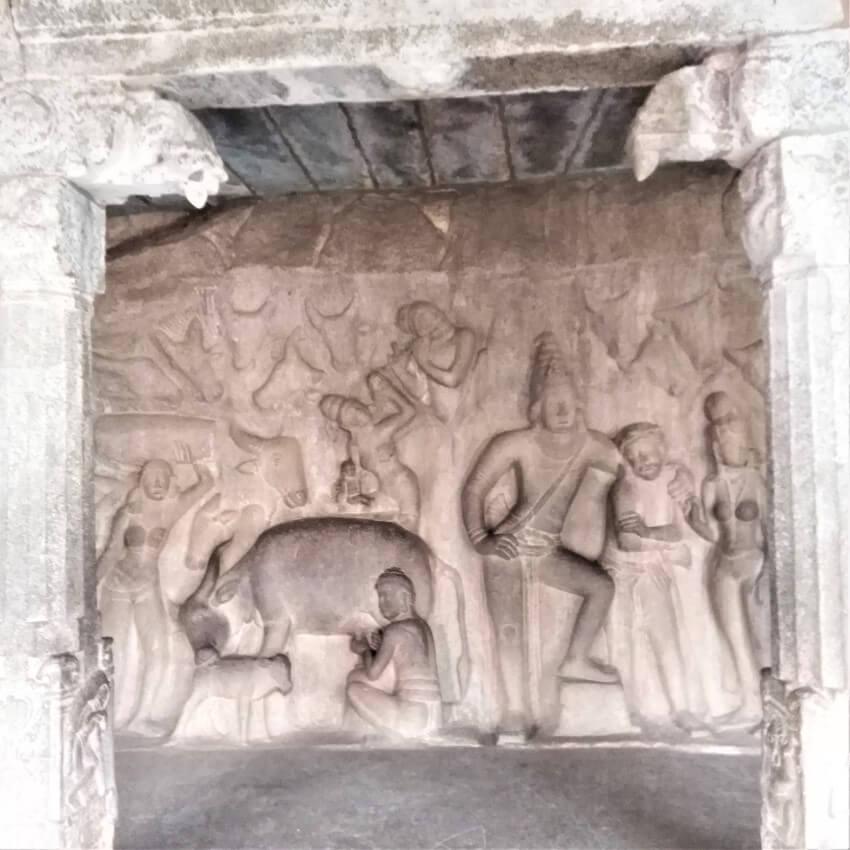Mahabalipuram en de grottekeningen