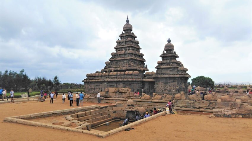 De prachtige shore tempel in Mahabalipuram