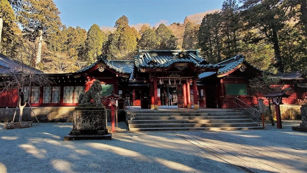 Tempel in Hakone, Japan