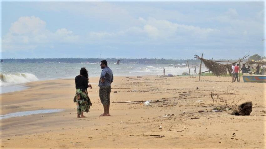 De westkust van Sri Lanka