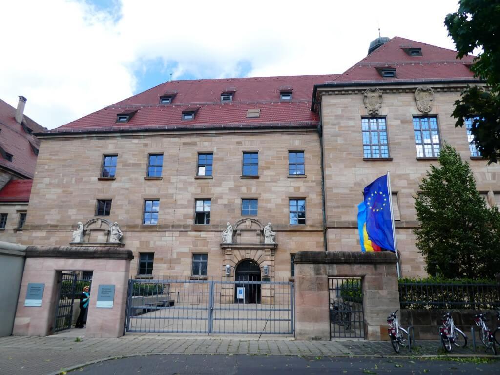 Het paleis van justitie in Neurenberg