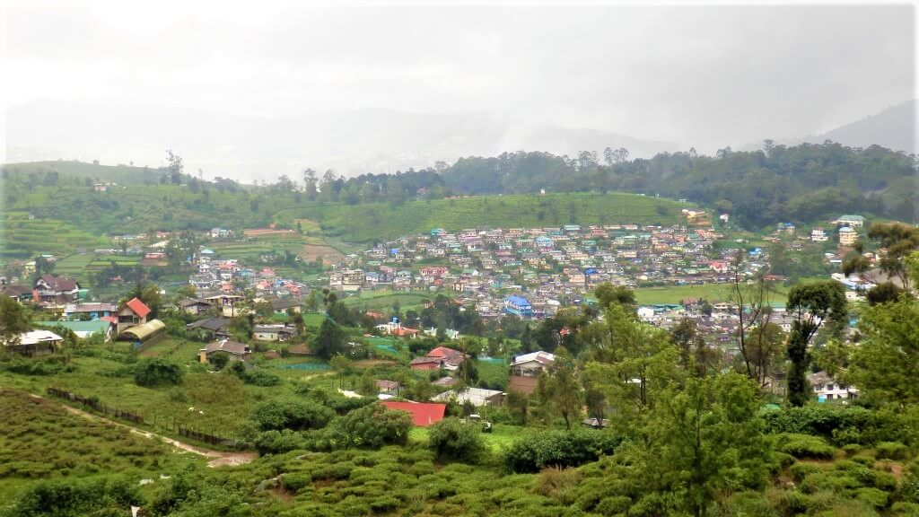 Nuwara Eliya in de hooglanden van Sri Lanka