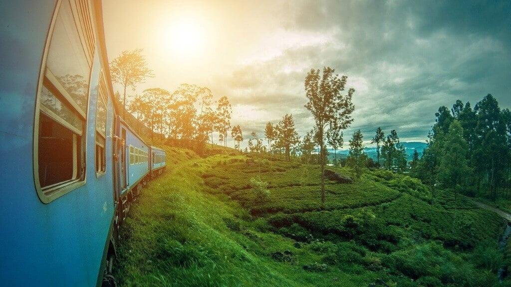 De trein van Nuwara Eliya naar Ella