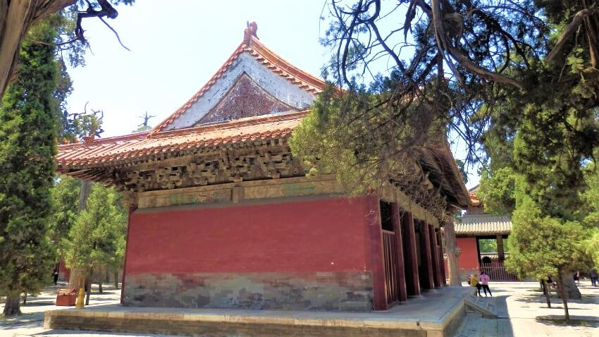 De tempel van Confucius in China