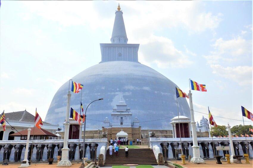 Ruwanwelisiya dagoba in Sri Lanka