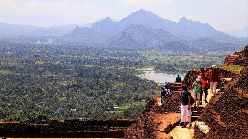 Uitzicht van Sigiriya Rock in Sri Lanka