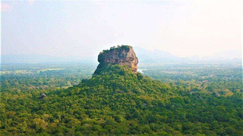 Uitzicht op de Leeuwenrots, Sri Lanka