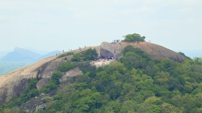 Uitzicht vanaf Pidurangala Rock