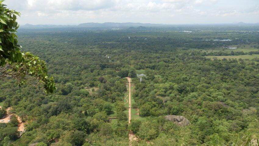 De paleistuinen van Sigiriya