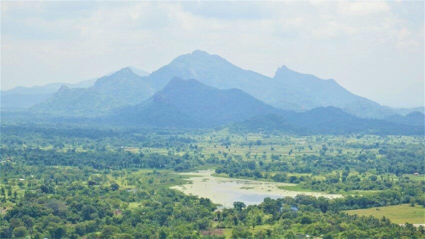Uitzicht over Sri Lanka