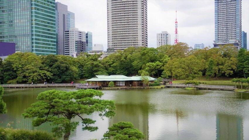 Hama Rikyu Onshi-teien, tuinen in Tokio