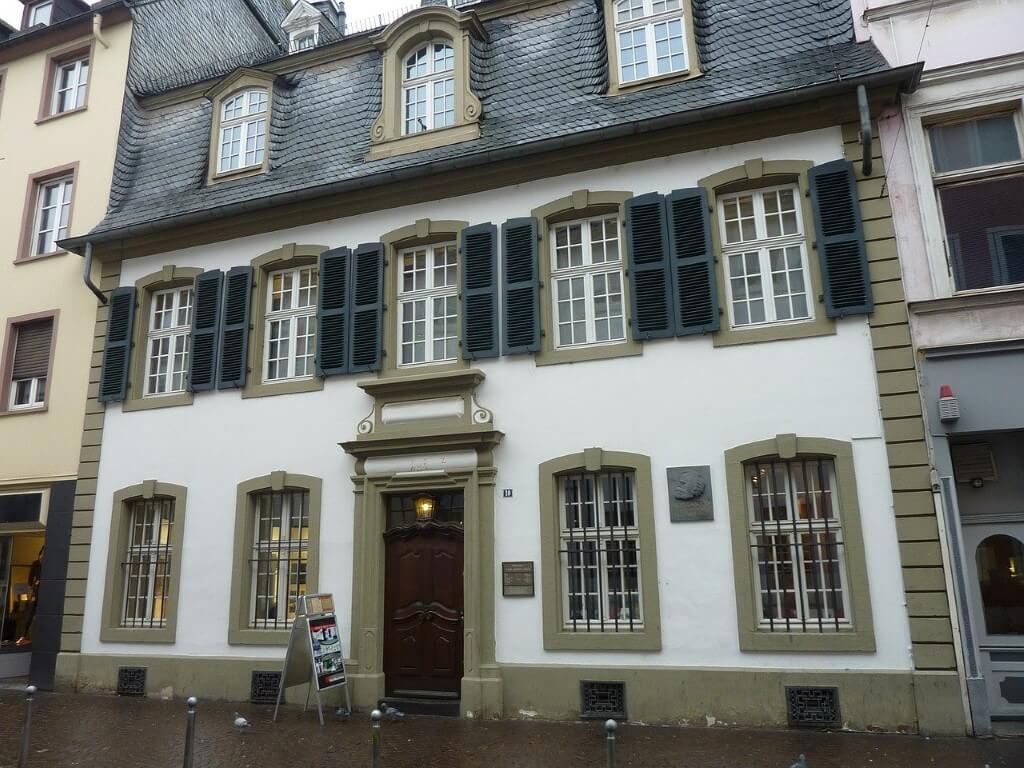 Het geboortehuis van Karl Marx in Trier
