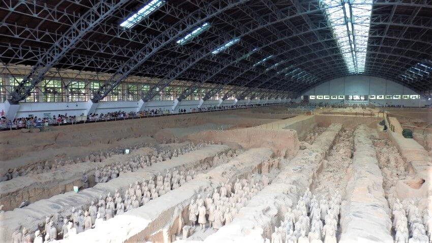 De grote hal met beelden van het leger, Xi'an