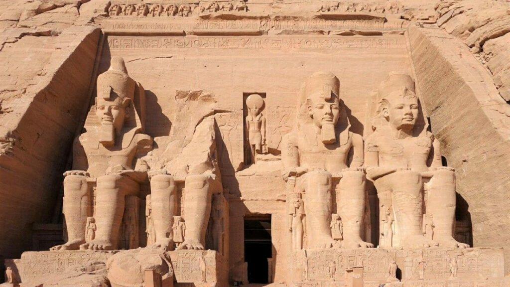 Historie van Aboe Simbel tempelcomplex van Ramses II, Egypte