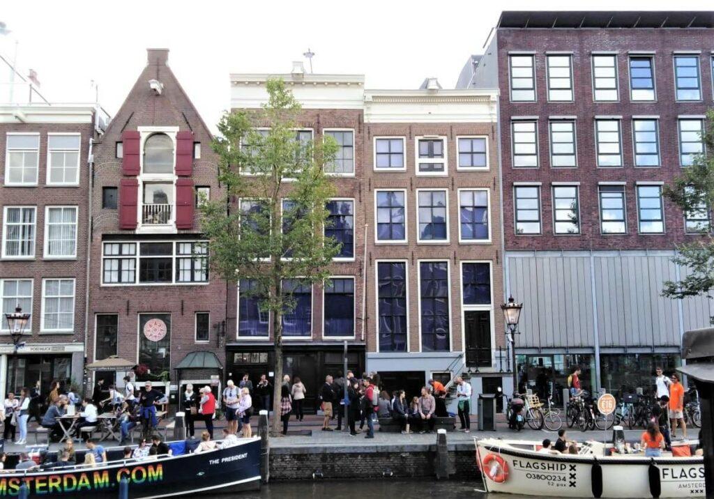 Het Anne Frank huis aan de Prinsengracht, Amsterdam
