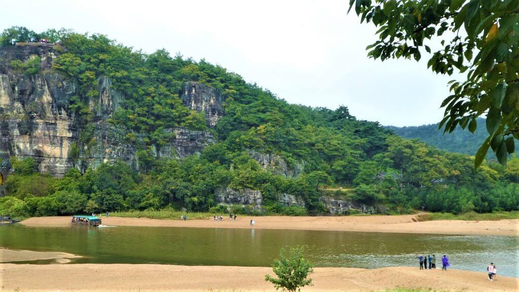 De ferry van de Nakdong rivier