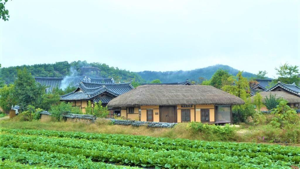 Traditionele hanoks in Zuid-Korea
