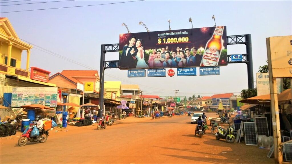 Reisgids over Anlong Veng in Cambodja