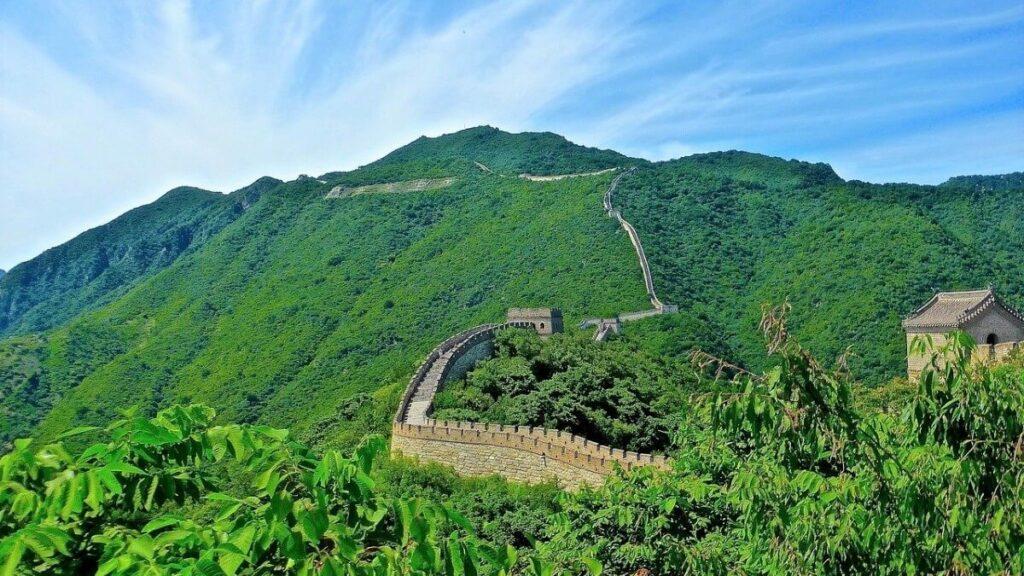 Geschiedenis van de Chinese muur bij Beijing, China