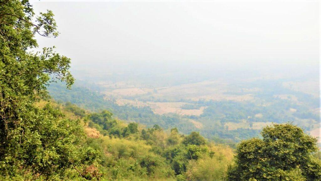 Het Dongrek gebergte in Cambodja