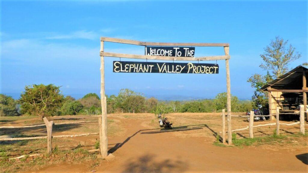 Ingang van het Elephant Valley Project