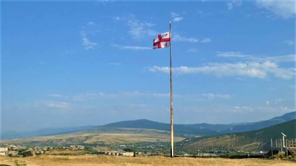 De Georgische vlag wappert