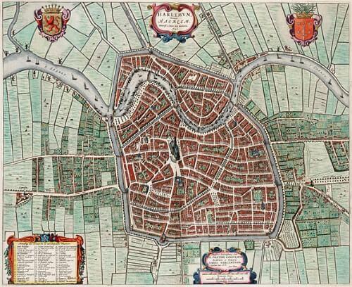Kaart van Haarlem omstreekt 1650