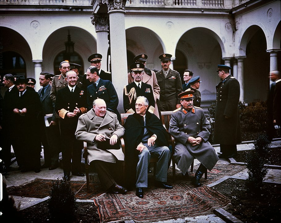 Jalta conferentie tussen Stalin, Churchill en Roosevelt