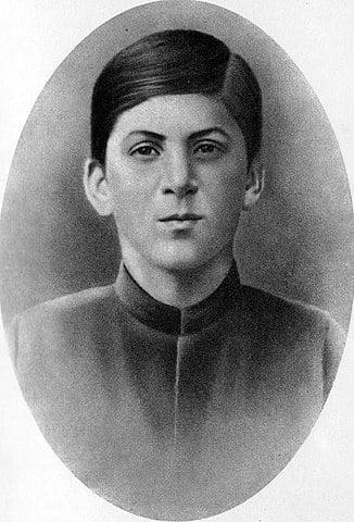 Jozef Stalin op vijftienjarige leeftijd