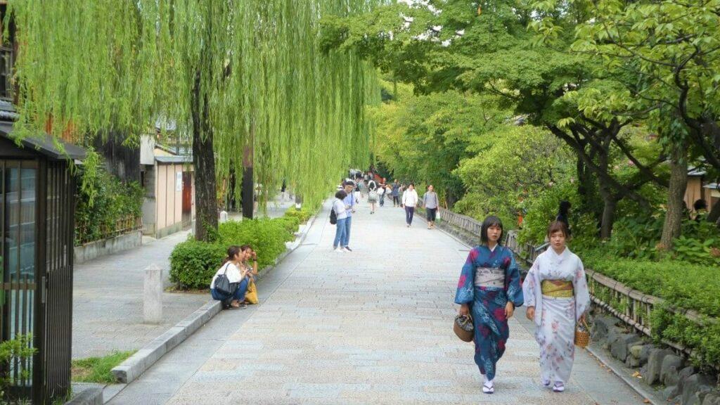 De wijk Gion in het centrum van Kioto