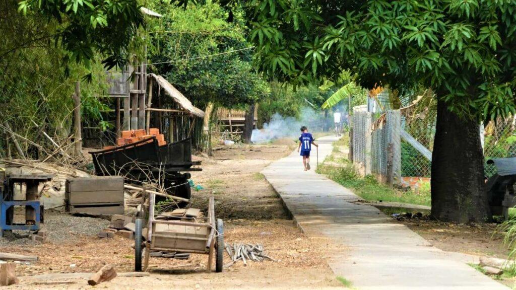 Het eiland Koh Trong bij Kratie