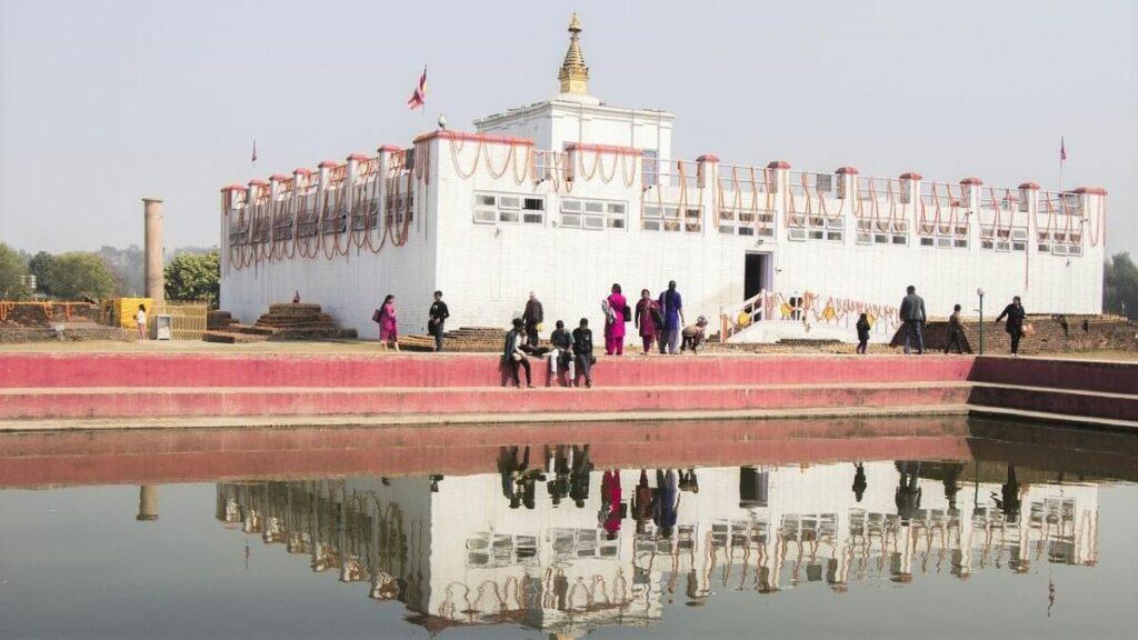 De geboorteplaats van Boeddha in Lumbini, Nepal