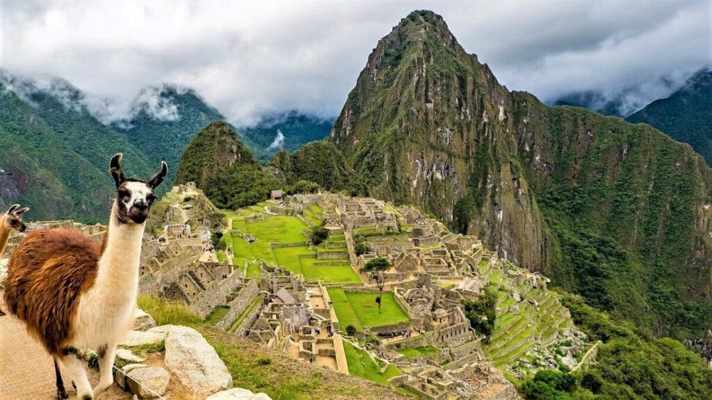 De geschiedenis van Machu Picchu bij Cusco, Peru