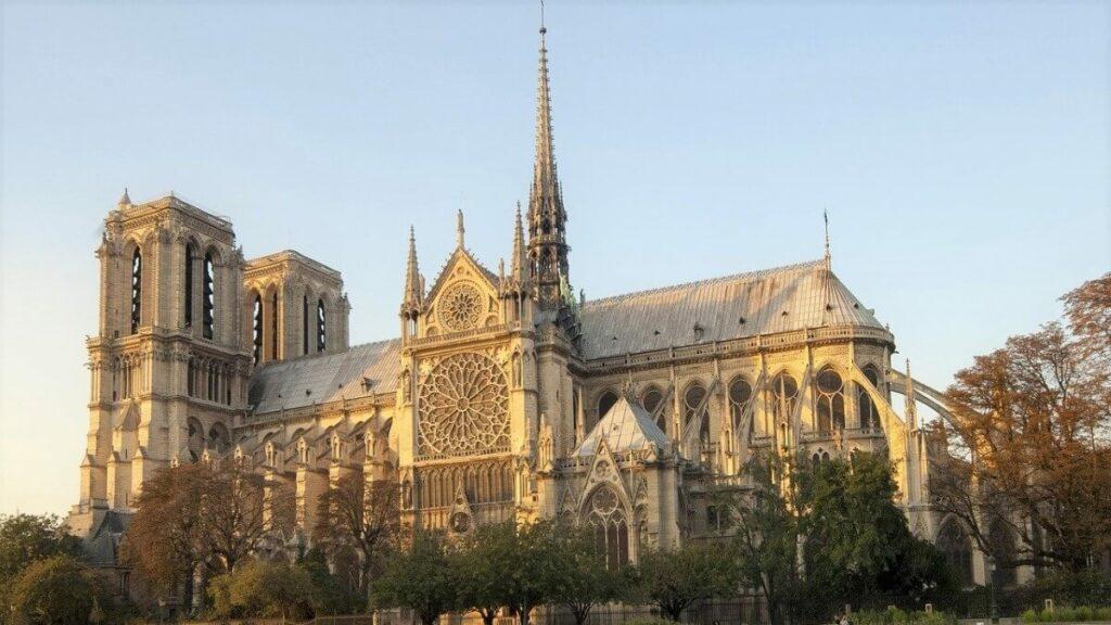 De Notre-Dame in Parijs, Frankrijk
