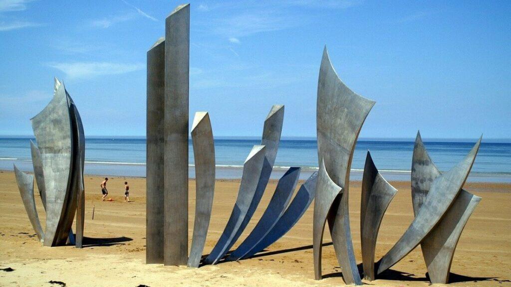 Bezienswaardigheden in Normandië: Omaha Beach in Frankrijk